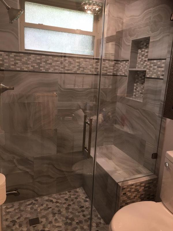 Shower Door Houston after