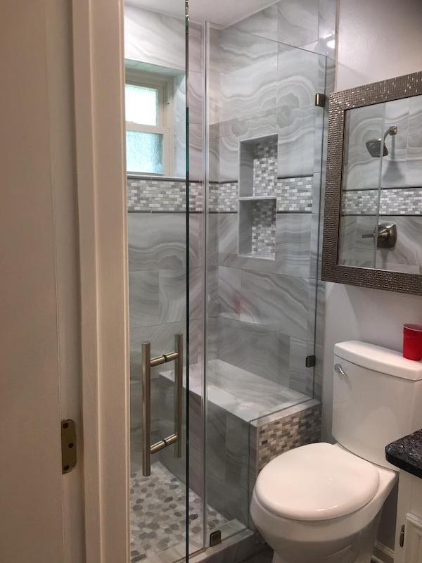 Shower Door Houston before1